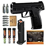 Byrna SD [Self Defense] Pepper Ultimate Bundle - Pepper Spray, Non Lethal, Less Lethal Pepper Launcher, Home Defense, Personal Defense (Black) | Proudly Assembled in The USA