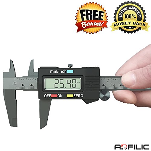 Digital Caliper, INCLUDES FREE BLACK CASE AND BATTERY The...