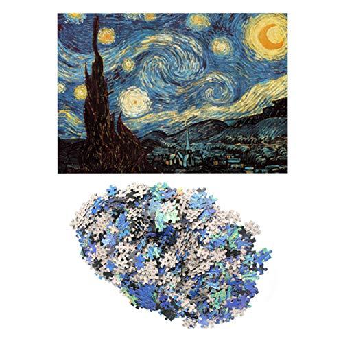 TOYANDONA Puzzle per Adulti 1000 Pezzi Puzzle per Adulti Notte Stellata Jigsaw Van Gogh Puzzle...
