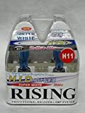 H11 Rising Super White 3950K Halogen Replacement Bulb Set of 2