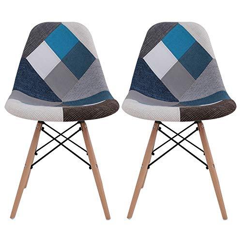 椅子 イームズチェア デザイナーズ リプロダクト パッチワークブルー PP-623C