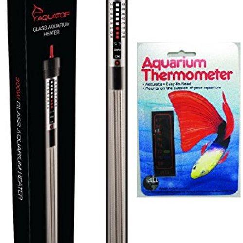AquaTop Aquarium Glass Submersible Heater - 300-Watt