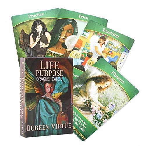 Tarot Cards,44PCS Life Purpose Oracle Card, Full English,...