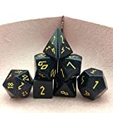 Amatolo Stone Dice Set of Seven,Handmade RPGs Dices for Dungeons & Dragons, Made by Natural...