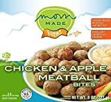Mom Made Meatballs - Chicken & Apple Meatballs, Antibiotic-free, Healthy frozen meals made in the USA, 8oz (8 pack)