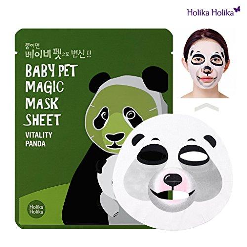Holika Holika - Mascarilla Baby Pet 22 ml - Magic Mask Sheet - Panda - 1 unidad