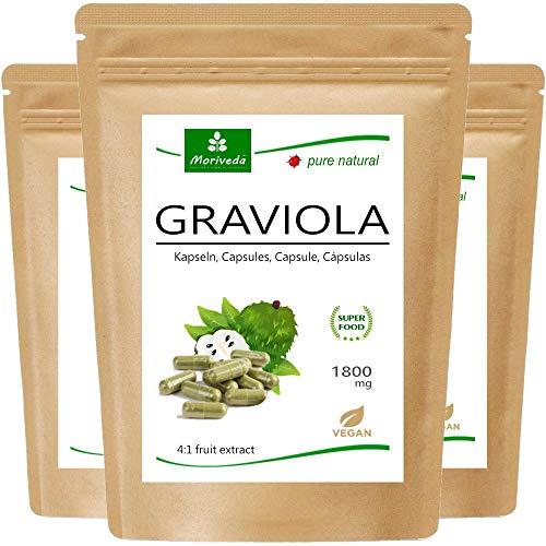 MoriVeda® - Cápsulas de graviola 360 x 1800mg extracto de