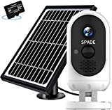 Outdoor Security Camera Wireless,SPADE Solar Powered Camera 7600mAh Battery with FHD 1080P, WiFi...