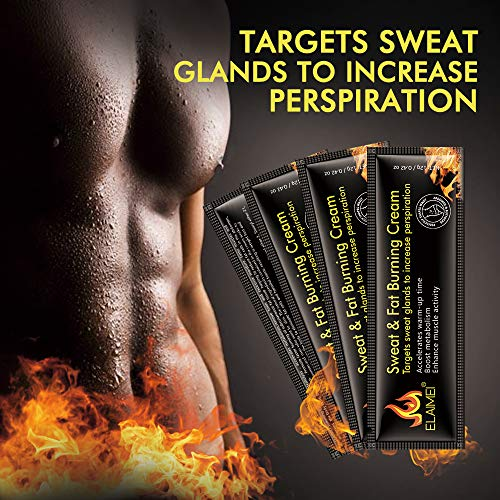 Hot Sweat Cream(10 pack), Extreme Cellulite Slimming & Firming Cream, Body Fat Burning Massage Gel Weight Losing, Treatment for Shaping Waist, Abdomen and Buttocks 6
