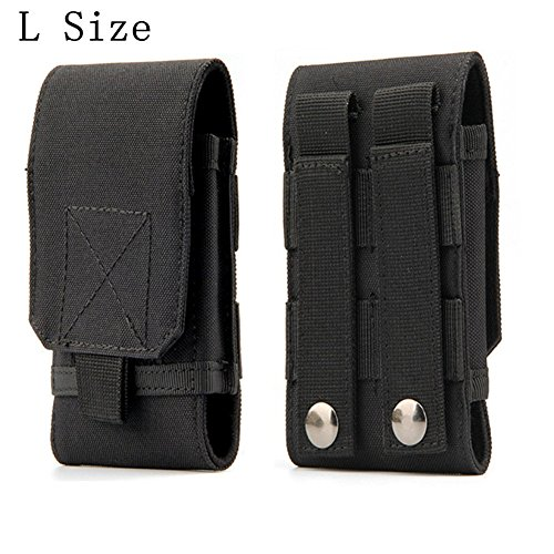 Tactical MOLLE Smartphone Holster, Universal Army Mobile Phone Belt Pouch EDC Security Pack Carry...