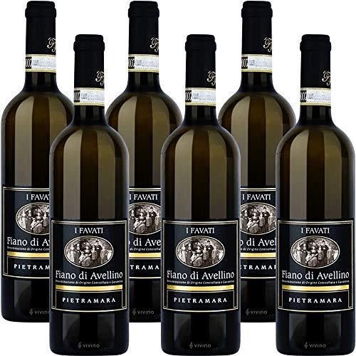 Fiano Avellino Docg | Pietramara I Favati | Vino Bianco della Campania | Confezione 6 Bottiglie 75cl | Idea Regalo