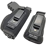 Universal IWB Holster for Concealed Carry   American Company   Inside The Waistband   Compatible with Sig Sauer   S&W M&P Shield   GLOCK 19 26 27 30 43   Springfield XD XDS/Ruger LC9 & Similar Pistols