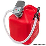 Deway Automatic Fuel Transfer Pump with Auto-Stop, AA Battery Powered, Advanced Adapter Fits All Size Gas Cans, Extra Long Hose, Portable Liquid Pump for Gasoline, Diesel Fuel & More