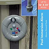 PoolEye Pool Immersion Alarm – Battery Powered Water Sensor Alarm For Aboveground Pools up to 24' Round or 16' x 32' Oval – Water Motion Sensor for Pool Safety, Poolside Siren Only, PE14
