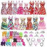 Festfun 32 Vêtement & Accessoires de Poupée 10 Robes Chics + 22 Accessoires (...