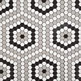 Soulscrafts Porcelain Ceramic 1 Inch Hexagon Mosaic Tile for Kitchen Backsplash Bathroom Floor & Wall Tile (Diamond; White, Black & Grey Mixed;10 Sheets/Box)