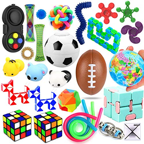 28 Pack Sensory Toys Set, Relieves Stress and Anxiety Fidget...