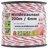 VOSS.farming 400m Weidezaunseil in 6mm Stärke mit extra dickem Kupferleiter - Aktion: Jetzt 5X Verbinder für Seile/Litzen dazu