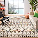 Safavieh Amsterdam Collection AMS108K Southwestern Bohemian Ivory and Multi Square Area Rug (6'7' Square)