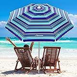 MOVTOTOP Beach Umbrella, 6.5ft...