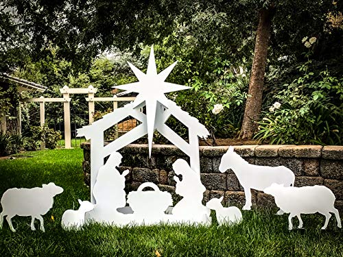 Note Card Cafe Large Outdoor Nativity Scene Yard Display Set | Front Lawn Sign Christmas Décor | 55