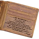 Engraved Bifold Wallet - To My Husband - I Love You More Than Anything In The World. (To My Husband) Gifts for Men Rfid Wallet Bifold Men