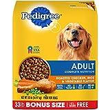 Pedigree Dry Dog Food, Adult Complete Nutrition, Roasted Chicken, Rice and Vegetable Flavor, 33 Lb Bag