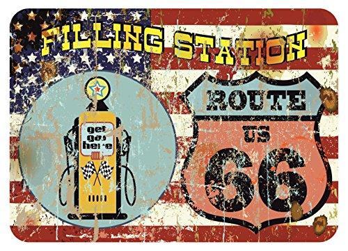 Finest-Folia América Route 66Bar & Grill Old School Pegatinas Cafe Racer Retro # 19