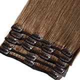 8'-24' Extension a Clip Cheveux Naturel Rajout 100% Vrai Cheveux Humain...