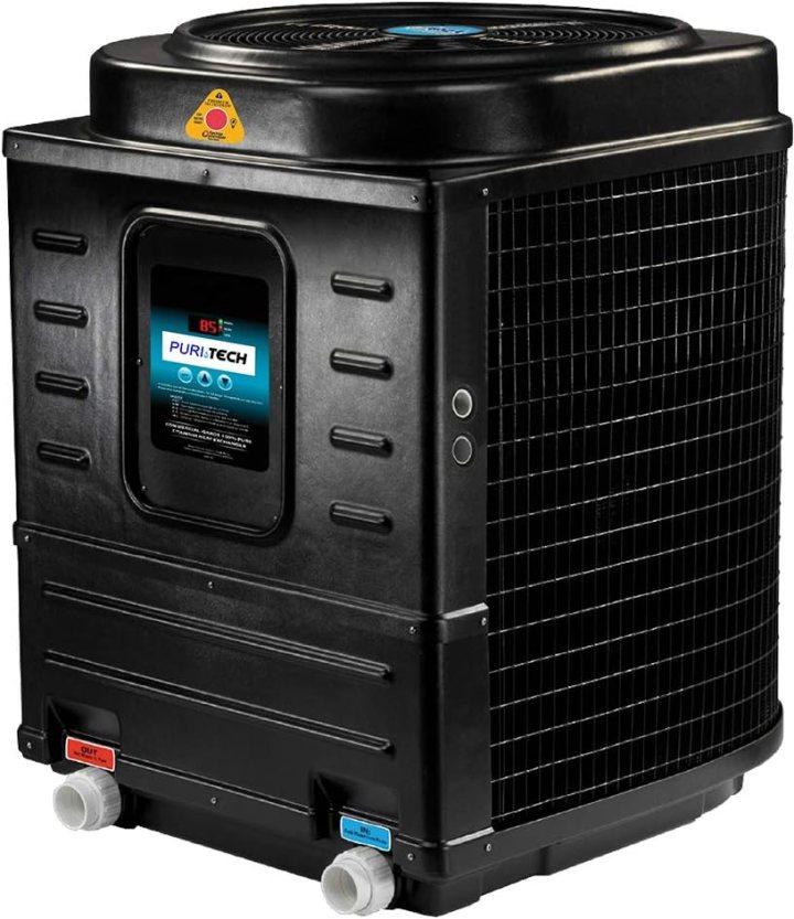 An electric heat pump pool heater. Courtesy Amazon.com