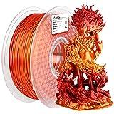 AMOLEN PLA 3D Printer Filament, PLA Filament 1.75mm Silk Shiny Filament Red Gold Filament, 3D Printing Filament 1KG/2.2lb