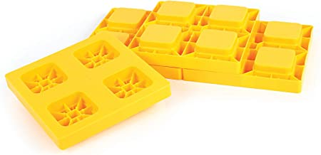 Camco Heavy Duty Leveling Blocks, Ideal For Leveling Single and Dual Wheels, Hydraulic..