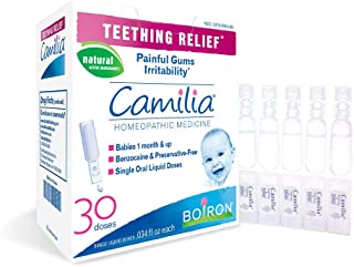 Boiron Camilia, Doses, Homeopathic Medicine for Teething Relief Natural – 30 Count