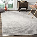 Safavieh Montauk Collection MTK601K Handmade Flatweave Light Grey and Ivory Cotton Area Rug (3' x 5')
