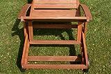 Hecht Gartenliege rollbare Sonnenliege mit Verstellbarer Rückenlehne und ausziehbarer Ablage - 5
