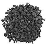 American Fireglass LAVA-M-10 American Fire Glass Medium Sized Black Lava Rock  Porous, All-Natural, 1/2 Inch to 1 Inch Thick x 10 Pounds