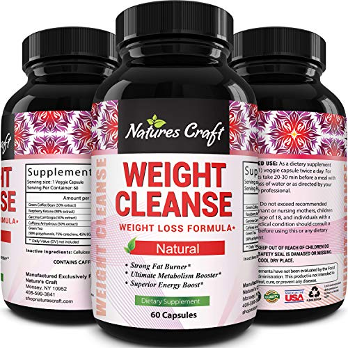 Immune Support Garcinia Cambogia Weight Loss HCA - Pure Green Coffee Bean Appetite suppressant Control Supplements Green Tea EGCG Energy Workout Boost - Detox Cleanse Supplement Natures Craft 1