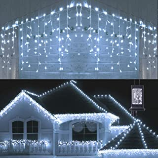 Toodour LED Icicle Lights, 360 LED, 29.5ft, 8 Modes, Window Curtain Fairy Lights with 60..