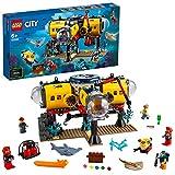LEGO CityOceans BaseperEsplorazioniOceaniche con Sottomarino, Drone, uno Squalo e una Manta, Avventure Acquatiche per Bambini, 60265