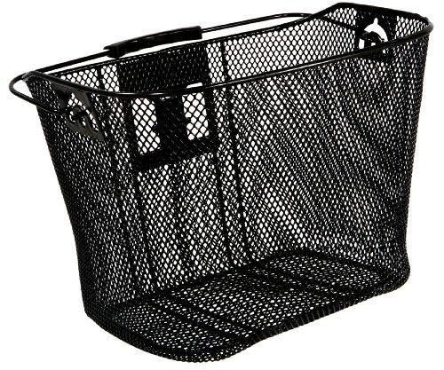 Schwinn Wire Basket for Bikes with Quick Release, Black , Medium