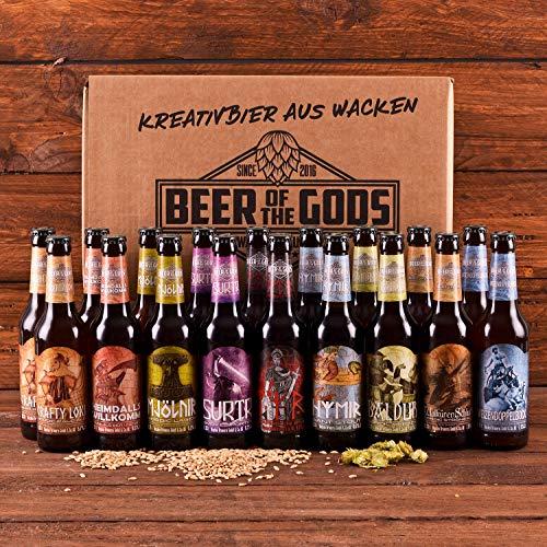 WACKEN BRAUEREI Craft Beer Box 20 x 0,33 l verschiedene Sorten   GÖTTERGABE   Viking Craftbeer Set...