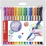Stylo feutre - STABILO pointMax - Pochette de 15 stylos-feutres pointe moyenne...