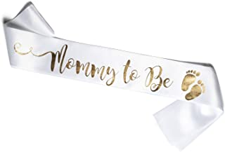 White sash for a Mommy to Be – Perfect for a Baby Shower Party (Mommy to Be)