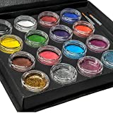Bo Buggles Professional Face Paint Kit + 50 Stencils. Water-Activated...