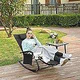 SONGMICS Gartenstuhl Sonnenliege Schaukelstuhl mit Kopfstütze - 2