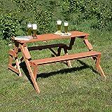 Holzbank Tisch Sitzgarnitur clevere Sache die Kombibank Gartenbank