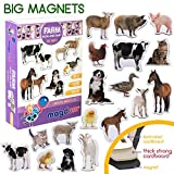 MAGDUM Magnets Photos Animaux de la Ferme Maman ET Bebe – Grands Magnets...