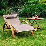 Ampel 24 Relax Liegestuhl Tropica Relaxliege mit Armlehnen Gartenmöbel aus vorbehandeltes Holz - 6