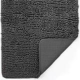 Gorilla Grip Indoor Durable Chenille Doormat, 60x36, Soft Absorbent Mat, Machine Wash Inside Mats, Low-Profile Rug Doormats for Entry, Back Door Mud Room, Garage Floor, Home Décor Essentials, Charcoal