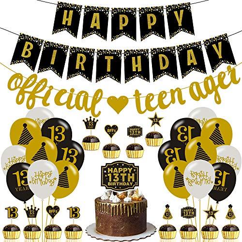 Decoración para fiesta de cumpleaños del 13 años, incluye